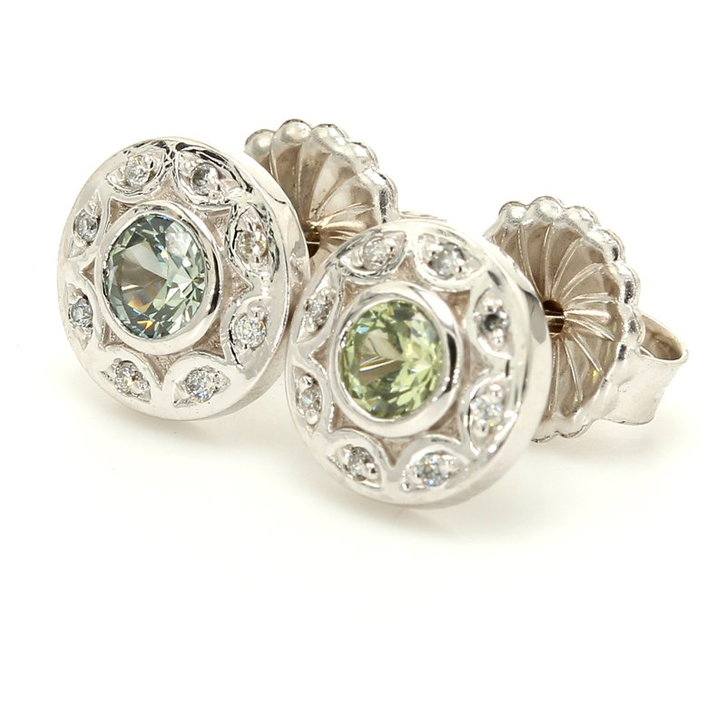 Color by Spicer Greene Sapphire Stud Earrings