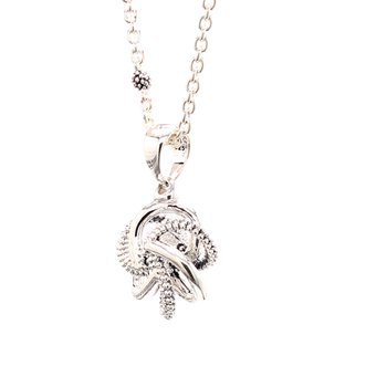 Silver Love Knot Pendant