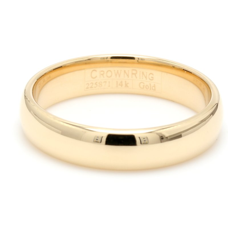 CrownRing 5mm 14 Karat Gold Wedding Band