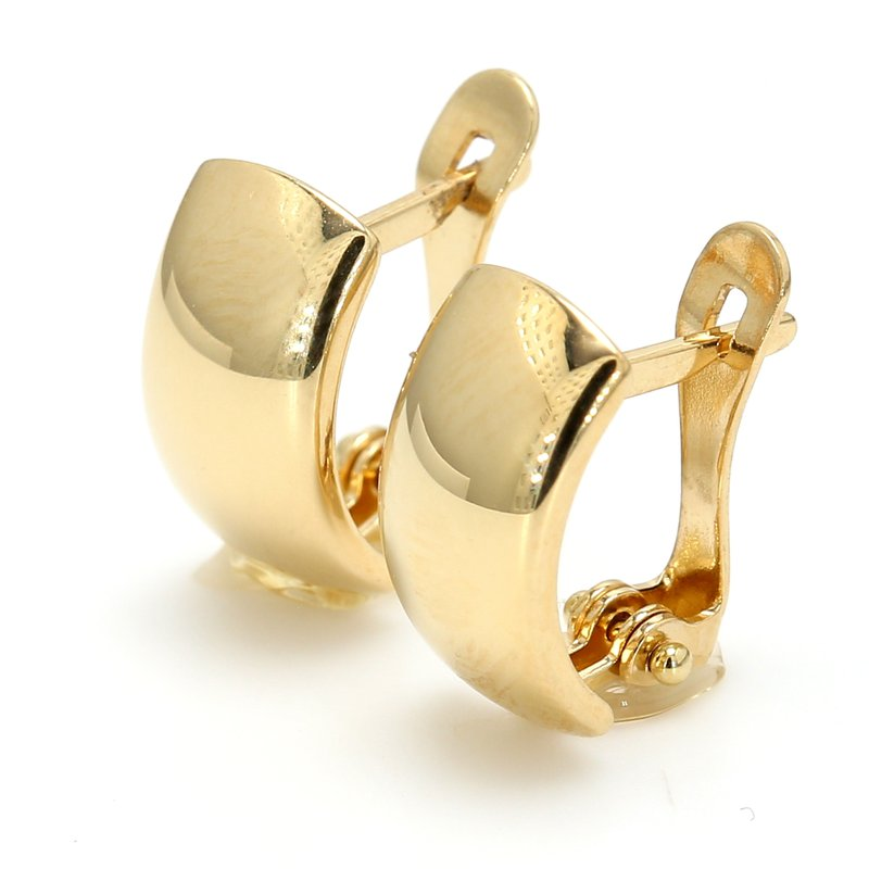 Spicer Greene Yellow Gold Huggie Earrings