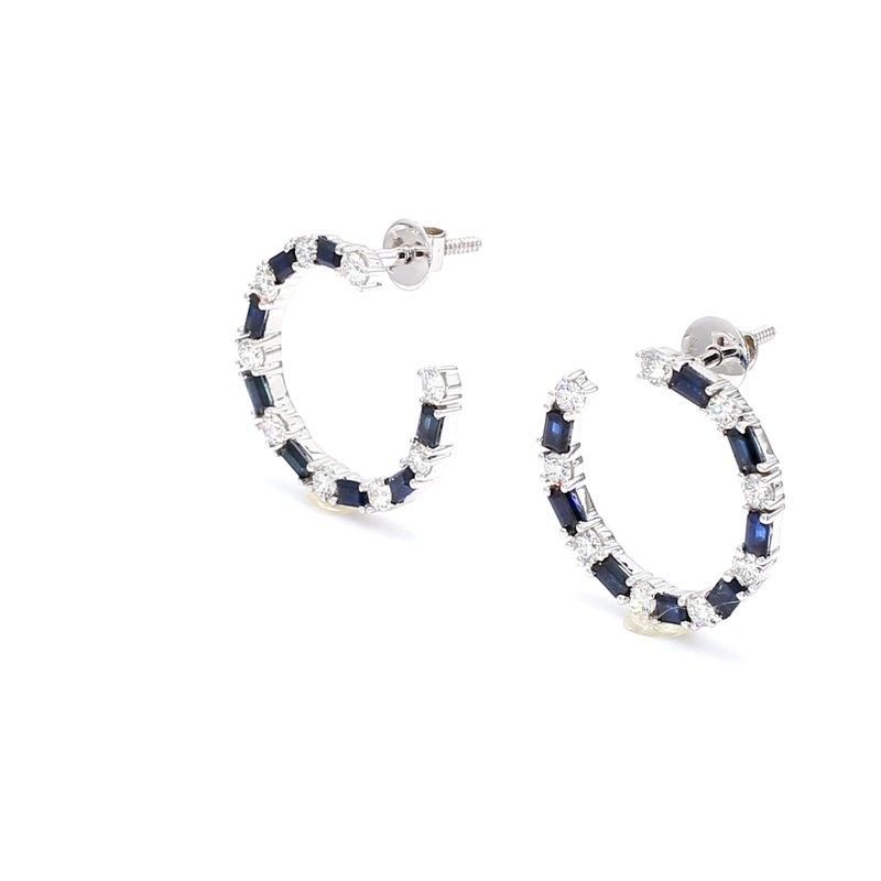 Color by Spicer Greene Sapphire Hoop Earrings