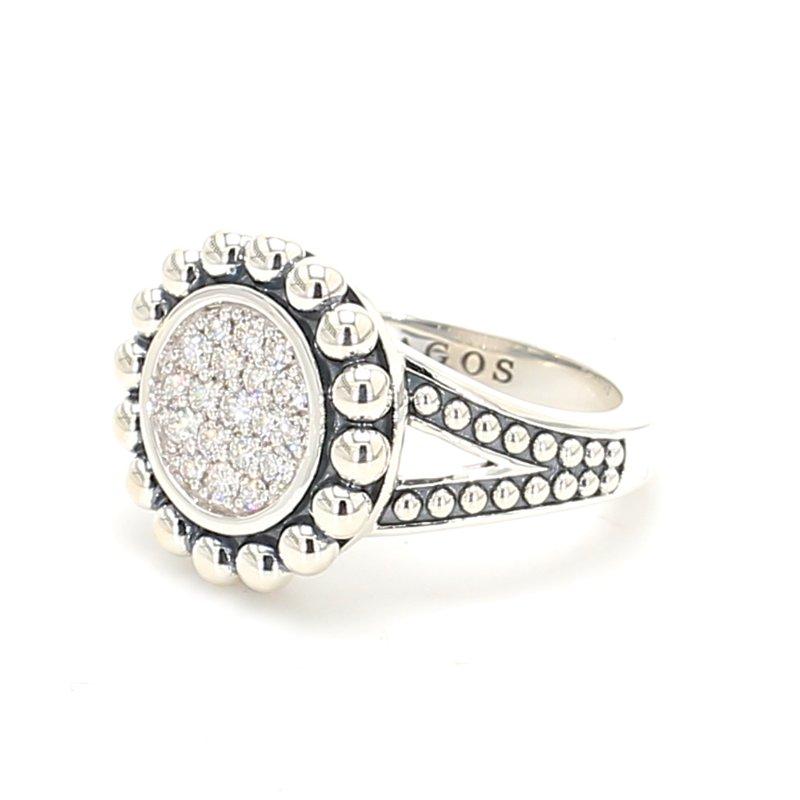 Lagos Silver Diamond Cluster Ring