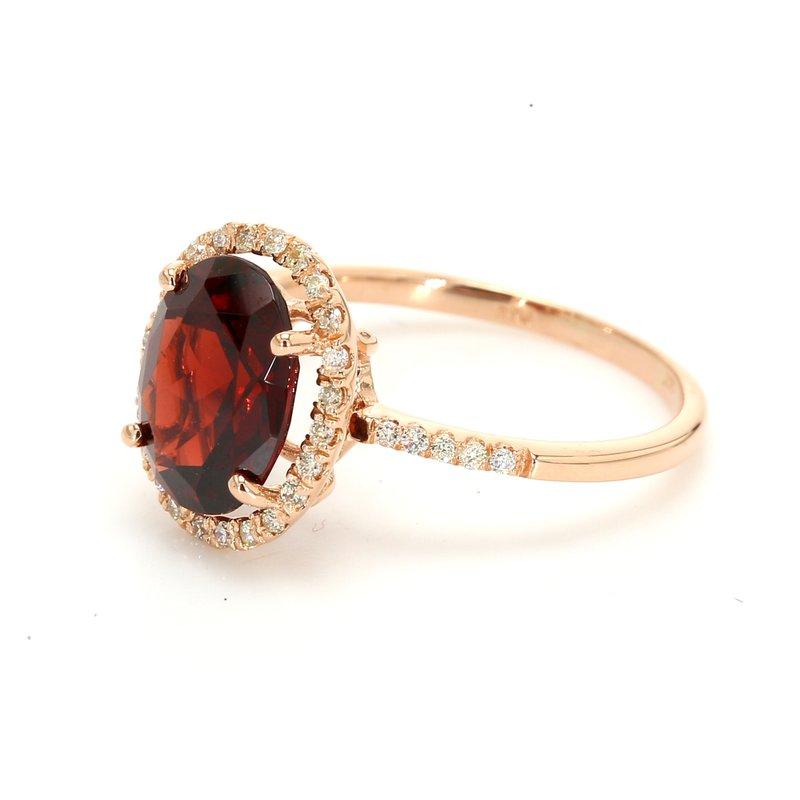 Color by Spicer Greene Garnet Halo Ring