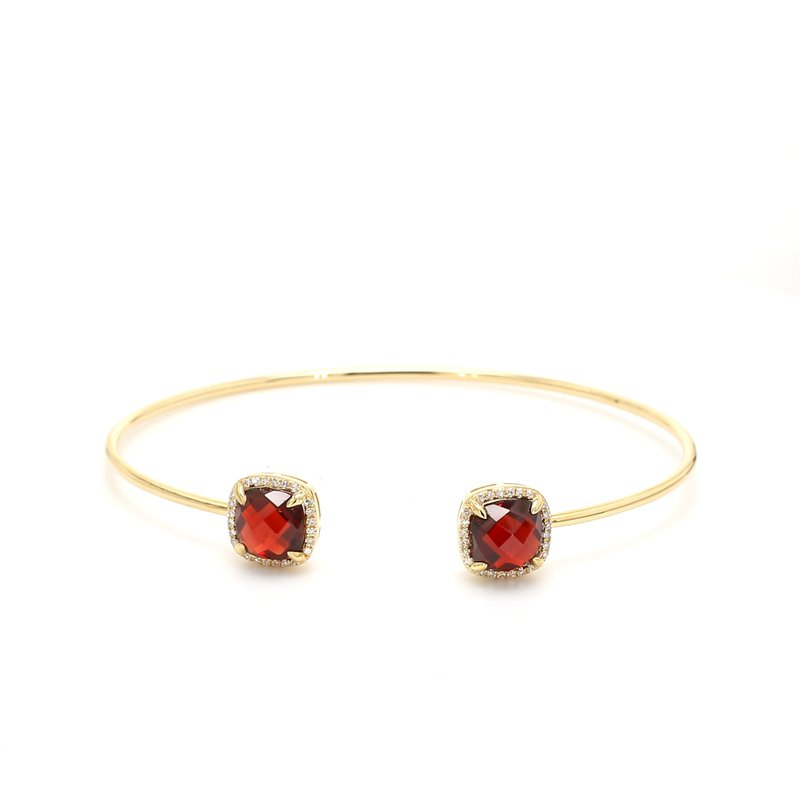 Color by Spicer Greene Garnet Bangle Bracelet