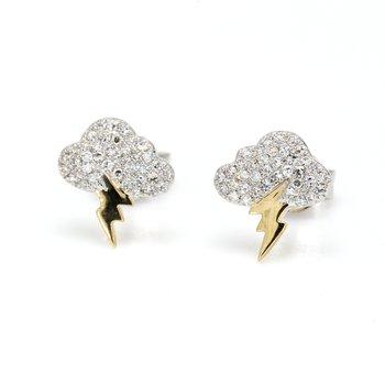 Diamond Storm Cloud Earrings