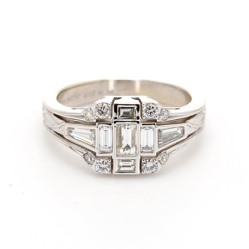 Spicer Greene Vintage Style Cluster Ring