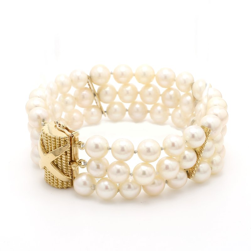 Estate Akoya Cultured Pearl Bracelet