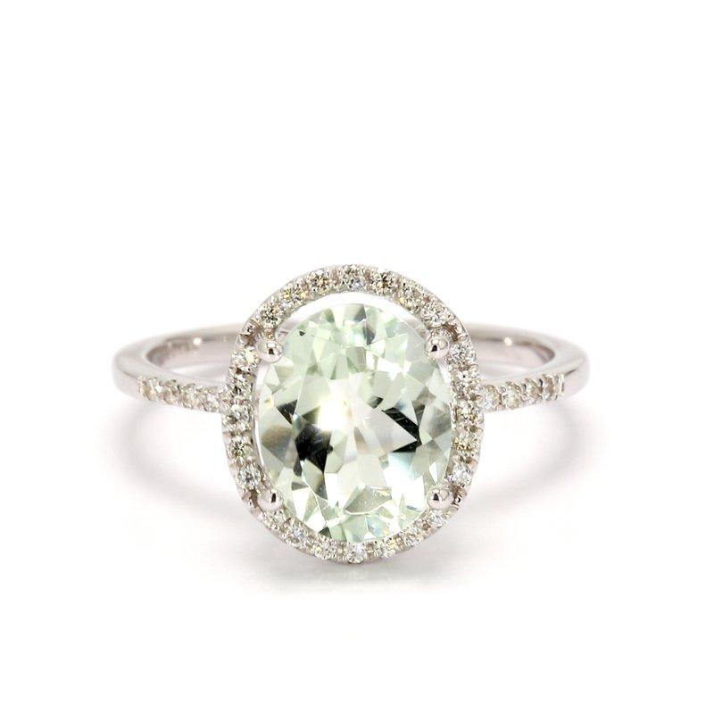 Color by Spicer Greene Prasiolite Halo Ring