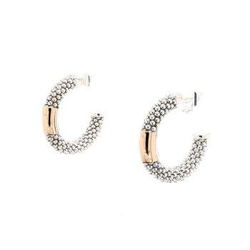 Two-Tone Gold Hoop Earrings