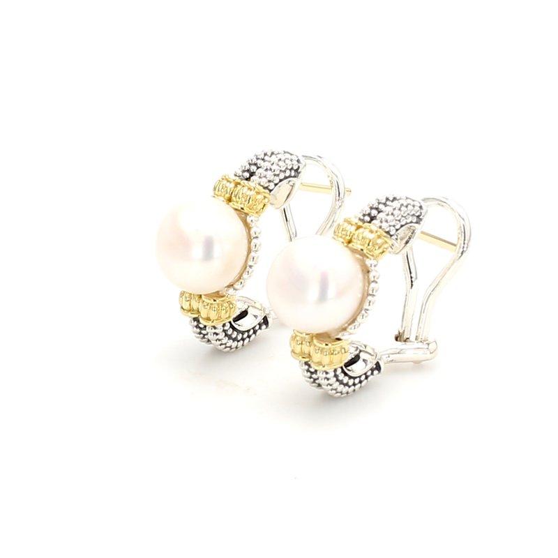 Lagos Freshwater Pearl Huggie Earrings