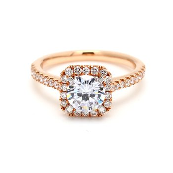 Cushion Halo Semi Mount Engagement Ring