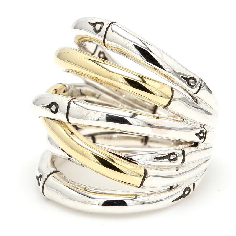 John Hardy Two-Tone Bamboo Ring