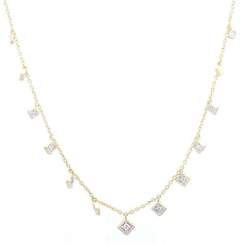 Jude Frances Diamond Station Necklace