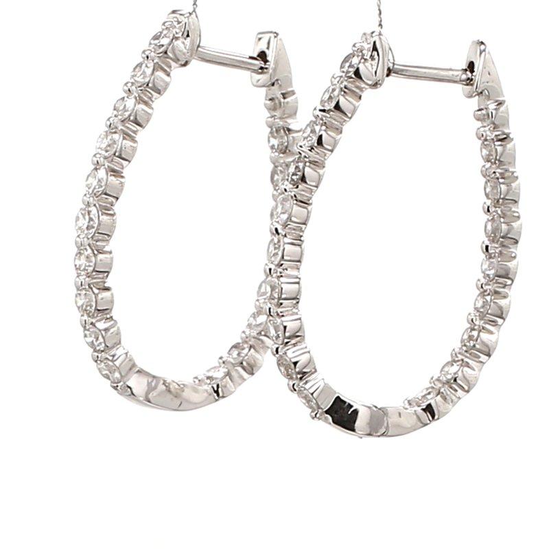 Everyday Diamonds Diamond Hinged Hoop Earrings