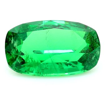 One Cushion Cut Tsavorite Garn