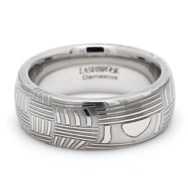 Lashbrook Designs Damascus Steel Wedding Band
