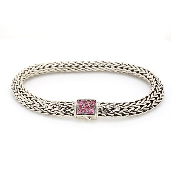 Pink Tourmaline Chain Bracelet