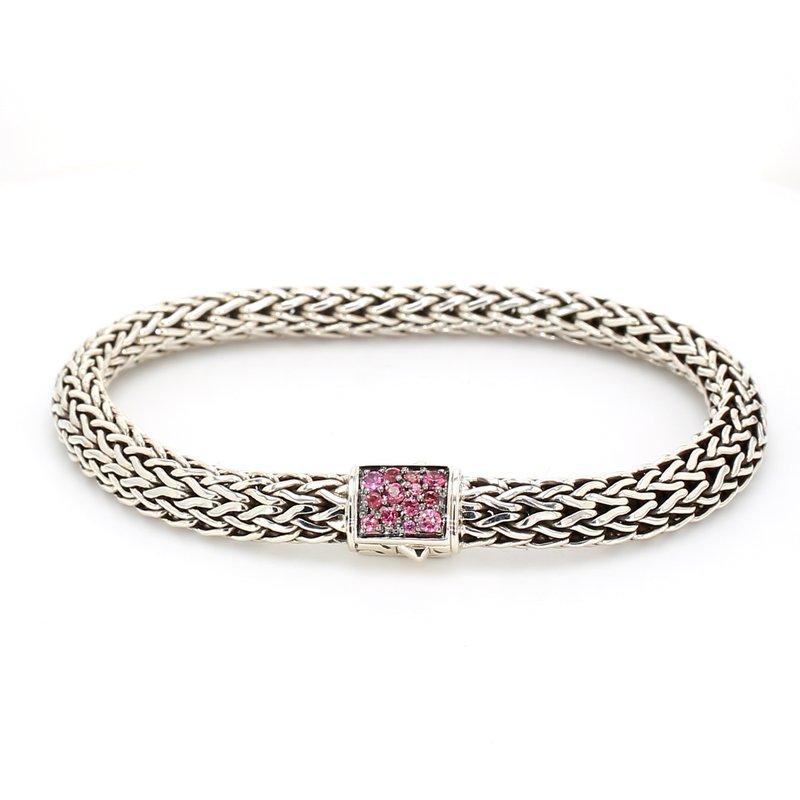 John Hardy Pink Tourmaline Chain Bracelet