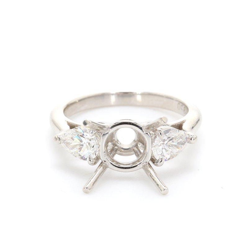 Spicer Greene 3 Stone Semi Mount Engagement Ring