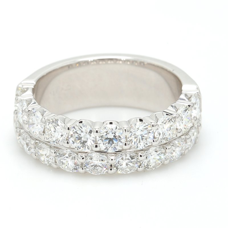 Spicer Greene Double Row Diamond Wedding Band