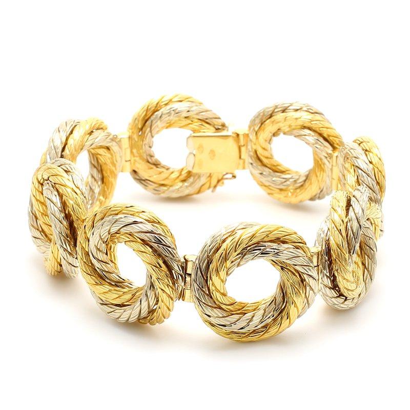 Estate Gold Open Link Bracelet