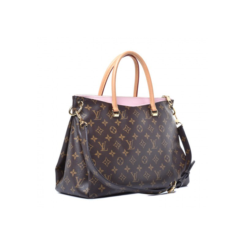 Pre-Owned Luxury Handbags Louis Vuitton Monogram Pallas Rose Ballerine