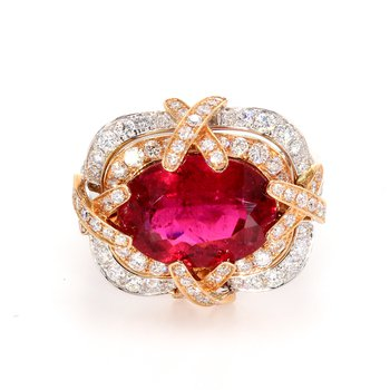 Tourmaline Halo Ring