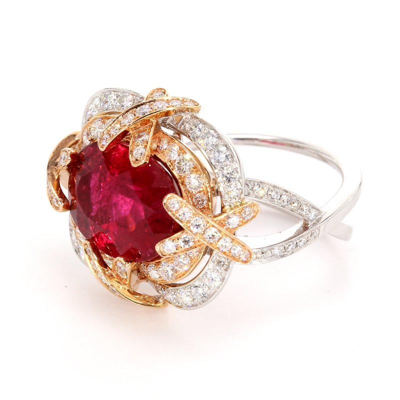 Color by Spicer Greene Tourmaline Halo Ring