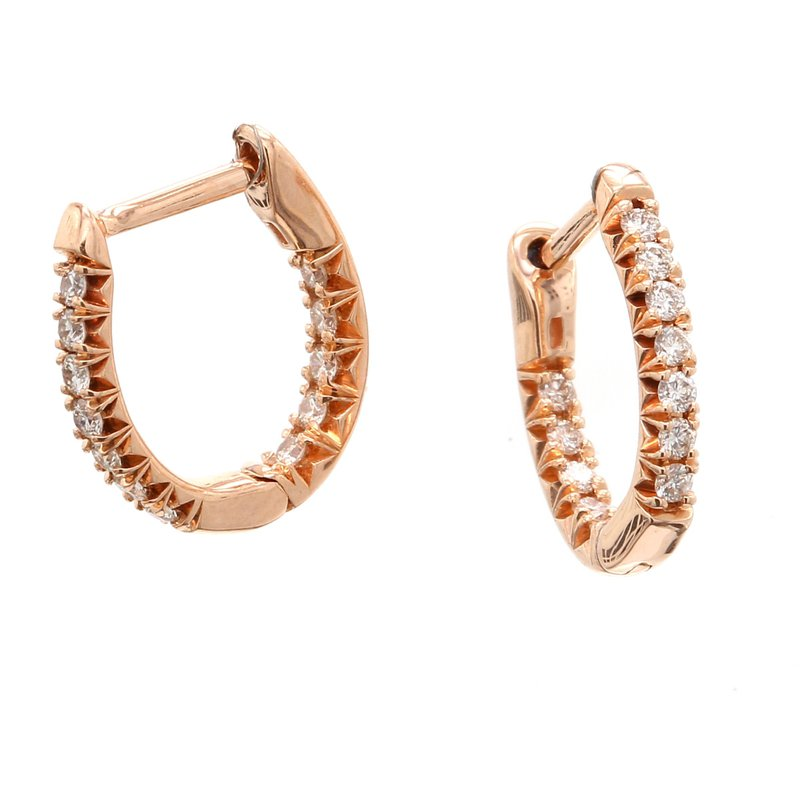 Spicer Greene Diamond Hoop Earrings