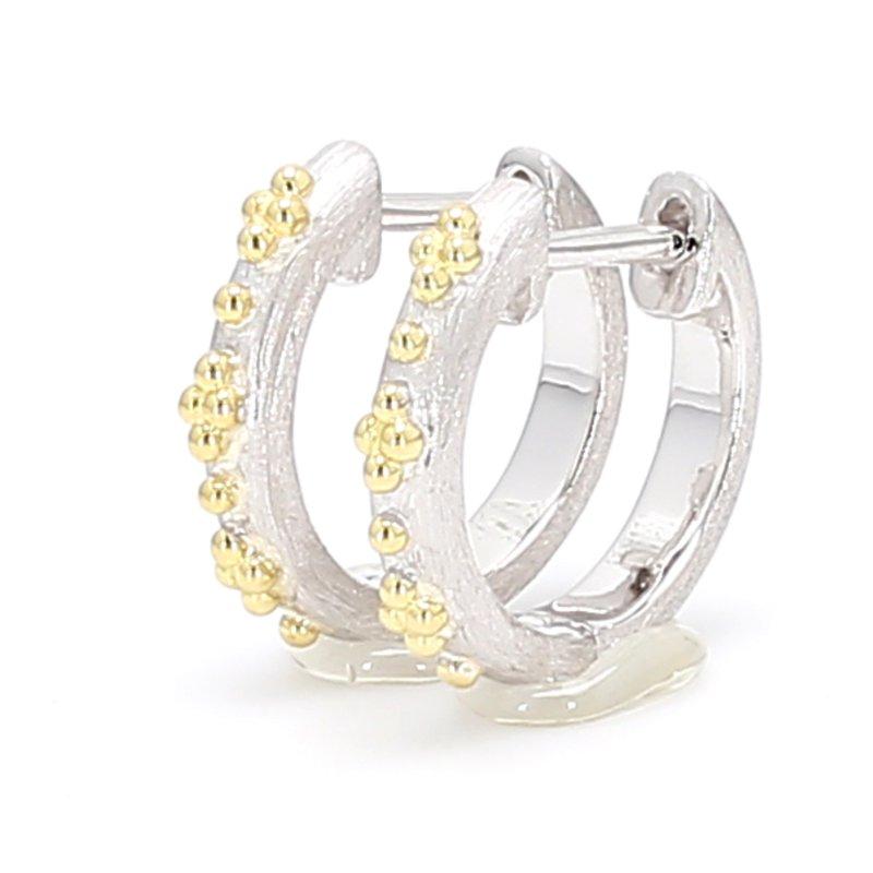 Jude Frances Hoop Huggie Earrings