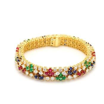 Multi-Stone Tennis Bracelet