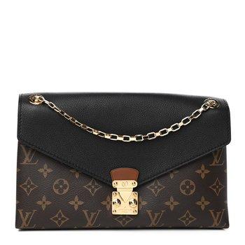 Louis Vuitton Monogram Pallas Chain Black