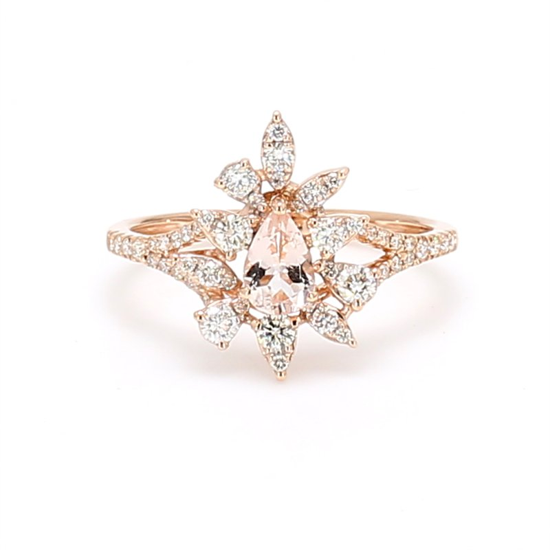Color by Spicer Greene Cluster Morganite Ring