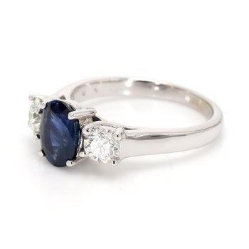 Sapphire 3-Stone Ring