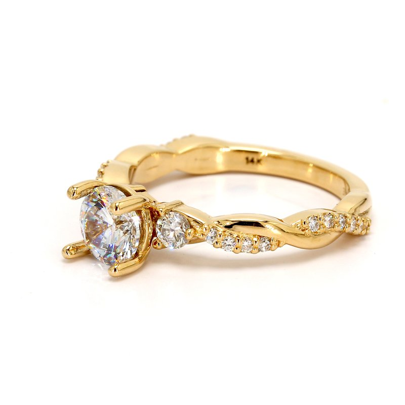 Spicer Greene Solitaire with Diamonds Semi Mount