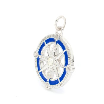 Sapphire Compass Charm