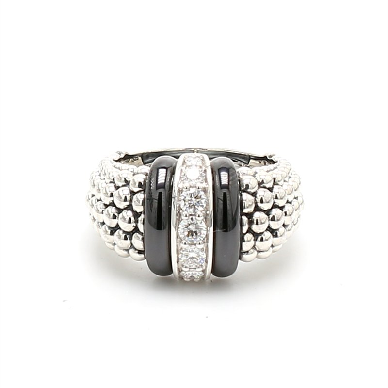 Lagos Sterling Silver Diamond Ring