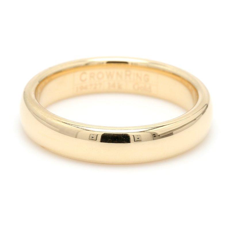 CrownRing 4mm 14 Karat Gold Wedding Band