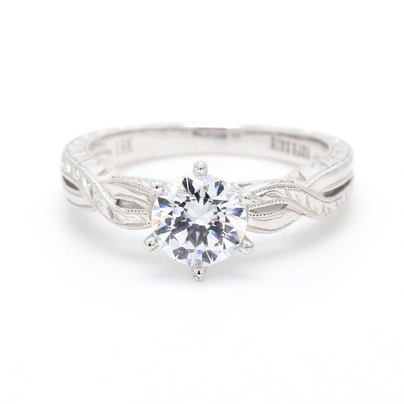 Kirk Kara 18 Karat Gold Engagement Ring Mounting