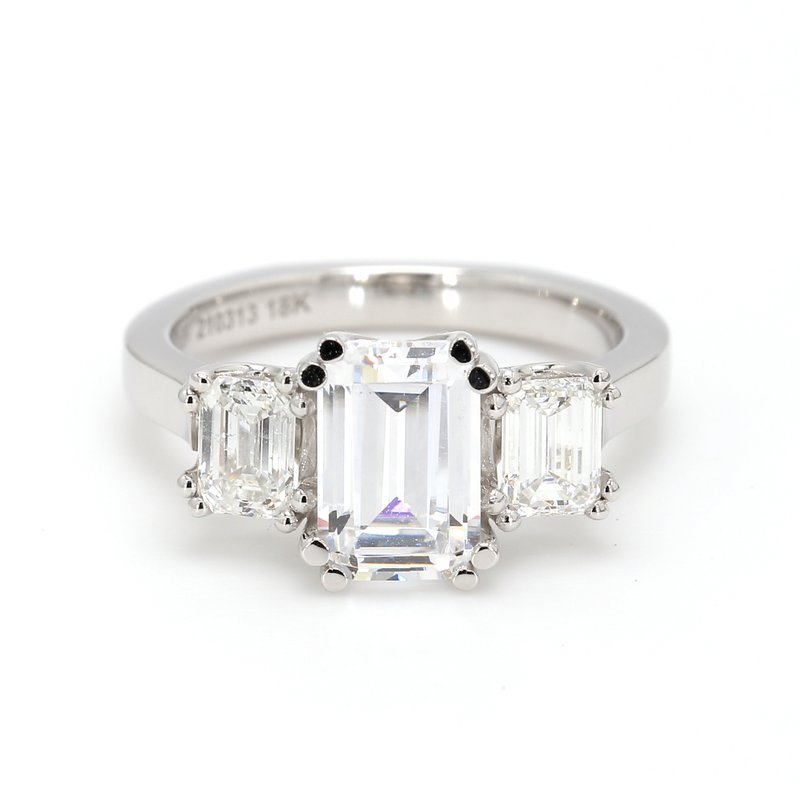 Noam Carver 3 Stone Semi Mount Engagement Ring