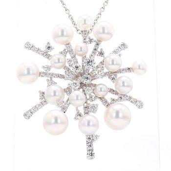 """Splash"" Akoya Cultured Pearl Pendant"