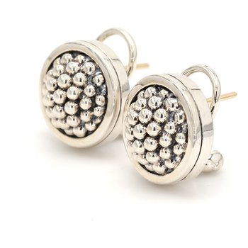 Silver Omega Back Earrings