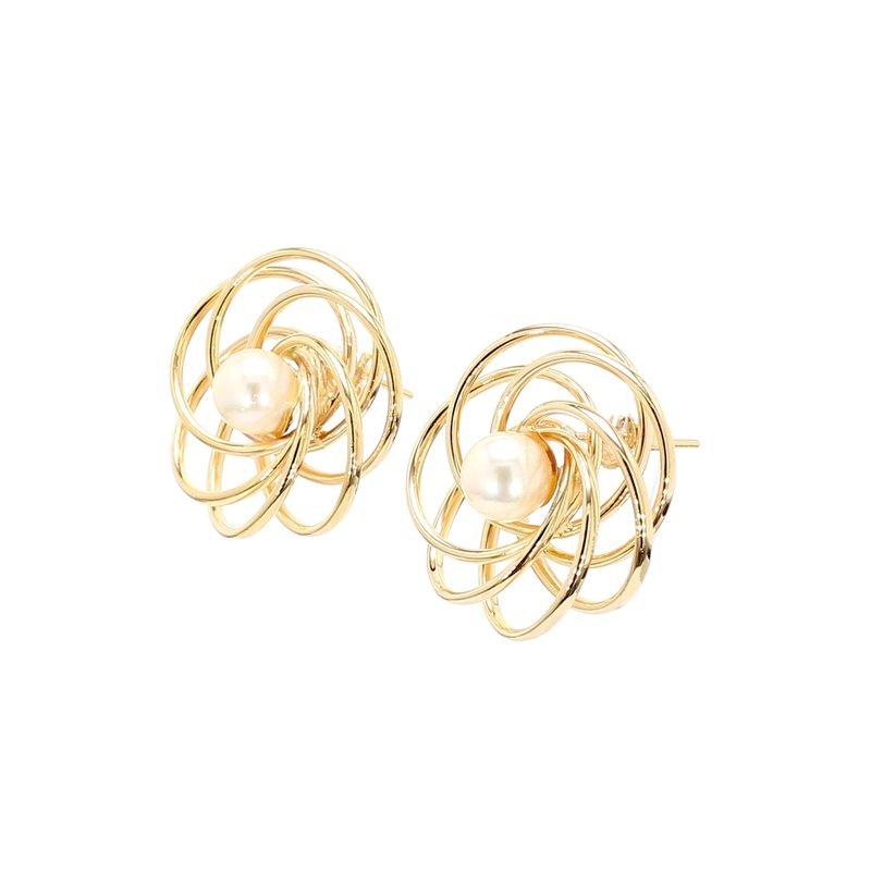 Estate Pearl Stud Earrings