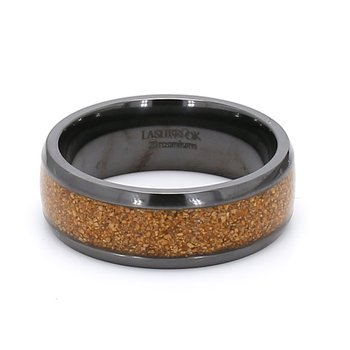 Zirconium & Dino Bone Wedding Band