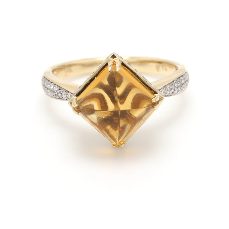 Color by Spicer Greene Solitaire Citrine Ring