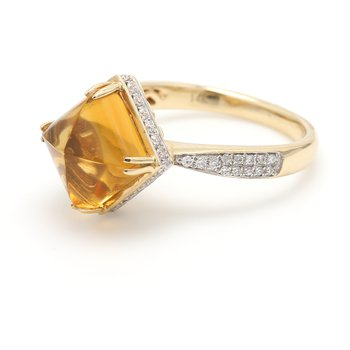 Solitaire Citrine Ring