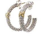 Lagos Caviar Diamond Hoop Earrings