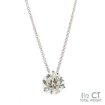 Diamond Solitaire Pendant