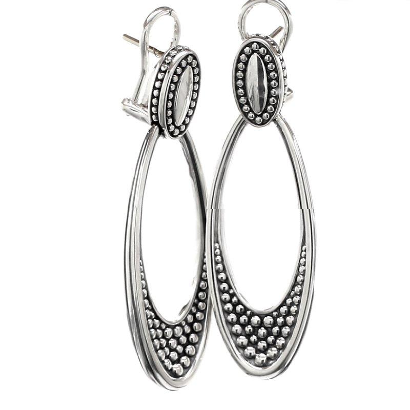 Lagos Silver Dangle Earrings