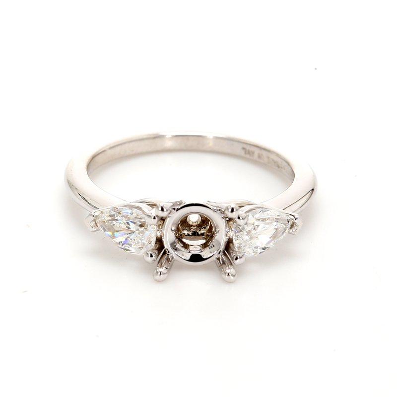 Classique 3 Stone Semi Mount Engagement Ring